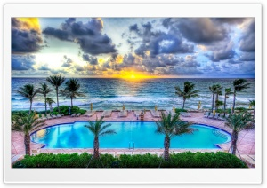 Pool Party, Florida HD Wide Wallpaper for Widescreen