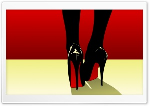 Pop Art High Heels Shoes Red Bottom Ultra HD Wallpaper for 4K UHD Widescreen desktop, tablet & smartphone
