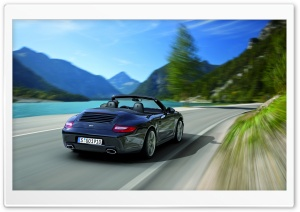 Porsche 911 Black Edition 2011 Rear HD Wide Wallpaper for Widescreen