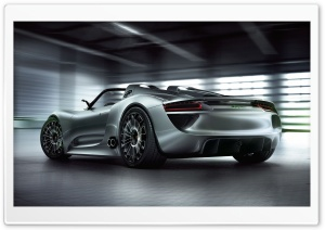 Porsche 918 Spyder Rear HD Wide Wallpaper for Widescreen