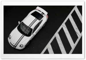 Porsche 997 Black And White HD Wide Wallpaper for Widescreen