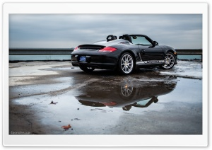 Porsche Boxster Spyder by Lake Michigan HD Wide Wallpaper for 4K UHD Widescreen desktop & smartphone