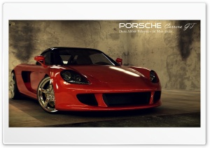 Porsche Carrera GT 3D Max HD Wide Wallpaper for Widescreen
