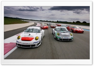 Porsche Cars vs Ferrari Cars HD Wide Wallpaper for Widescreen