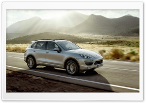 Porsche Cayenne Silver HD Wide Wallpaper for Widescreen