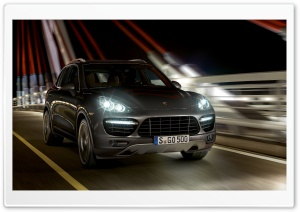 Porsche Cayenne Turbo Night HD Wide Wallpaper for 4K UHD Widescreen desktop & smartphone