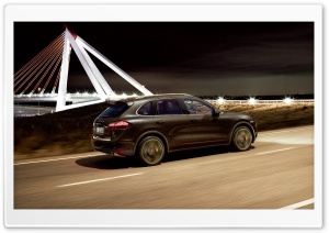 Porsche Cayenne Turbo On The Road HD Wide Wallpaper for Widescreen