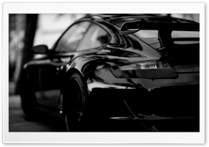 Porsche In Black HD Wide Wallpaper for Widescreen