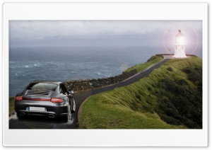 Porsche Lighthouse HD Wide Wallpaper for Widescreen