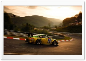 Porsche On Race Track HD Wide Wallpaper for Widescreen