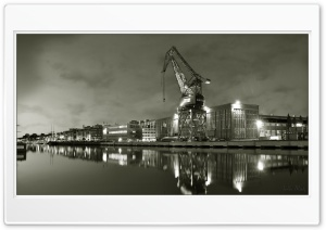 Port Crane HD Wide Wallpaper for Widescreen