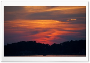 Portage Lake Sunset HD Wide Wallpaper for Widescreen