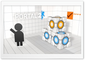 Portal 2 HD Wide Wallpaper for Widescreen