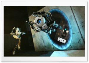 Portal 2 Coop Bots HD Wide Wallpaper for Widescreen