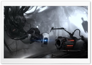 Portal 2 GLaDOS HD Wide Wallpaper for Widescreen