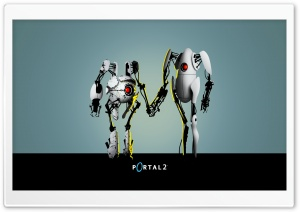 Portal 2 Robots HD Wide Wallpaper for Widescreen