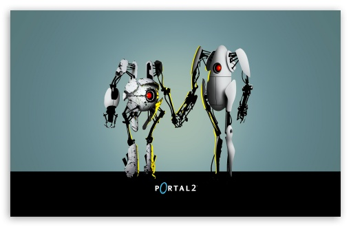 Portal 2 Robots HD wallpaper for Wide 16:10 5:3 Widescreen WHXGA WQXGA WUXGA WXGA WGA ; Mobile 5:3 - WGA ;