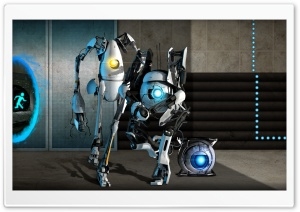 Portal 2 Team HD Wide Wallpaper for Widescreen