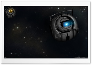 Portal 2 Wheatley In Space HD Wide Wallpaper for Widescreen