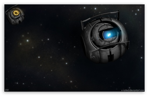 Portal 2 Wheatley In Space HD wallpaper for Wide 16:10 Widescreen WHXGA WQXGA WUXGA WXGA ; HD 16:9 High Definition WQHD QWXGA 1080p 900p 720p QHD nHD ; Standard 4:3 5:4 Fullscreen UXGA XGA SVGA QSXGA SXGA ; iPad 1/2/Mini ; Mobile 4:3 16:9 5:4 - UXGA XGA SVGA WQHD QWXGA 1080p 900p 720p QHD nHD QSXGA SXGA ;
