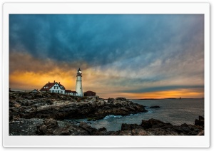 Portland Head Light Lighthouse HD Wide Wallpaper for 4K UHD Widescreen desktop & smartphone