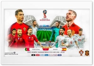 PORTUGAL - SPAIN WORLD CUP 2018 Ultra HD Wallpaper for 4K UHD Widescreen desktop, tablet & smartphone