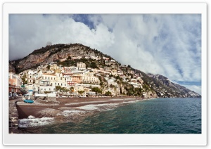 Positano Coast Panorama HD Wide Wallpaper for Widescreen
