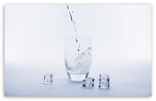 Download Pouring Water into a Glass HD Wallpaper
