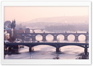 Prague Bridge, Czech Republic HD Wide Wallpaper for Widescreen