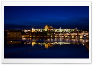 Prague by night, Czech Republic HD Wide Wallpaper for Widescreen