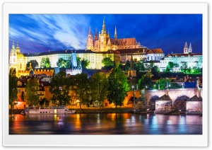 Prague Castle, the Largest Ancient Castle in the World HD Wide Wallpaper for 4K UHD Widescreen desktop & smartphone