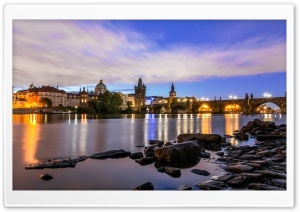 Prague with Charles bridge HD Wide Wallpaper for 4K UHD Widescreen desktop & smartphone