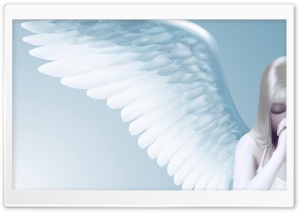 Praying Angel HD Wide Wallpaper for 4K UHD Widescreen desktop & smartphone