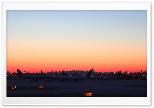 Pre-dawn Over NY HD Wide Wallpaper for Widescreen