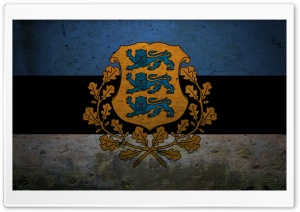 Presidential Flag Of Estonia HD Wide Wallpaper for Widescreen