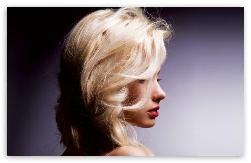 Pretty Blonde Gold Hair Red Lips 4k Hd Desktop Wallpaper For 4k