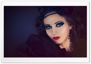 Pretty Witch Makeup HD Wide Wallpaper for 4K UHD Widescreen desktop & smartphone