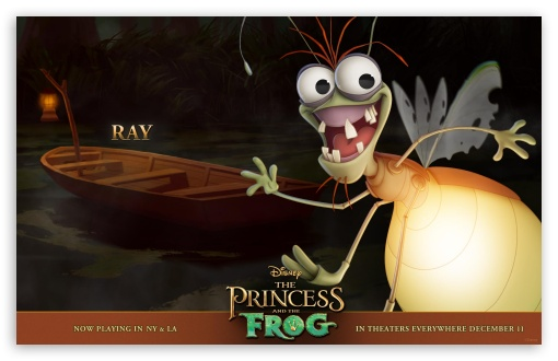 Princess And The Frog Ray HD wallpaper for Wide 16:10 5:3 Widescreen WHXGA WQXGA WUXGA WXGA WGA ; Standard 3:2 Fullscreen DVGA HVGA HQVGA devices ( Apple PowerBook G4 iPhone 4 3G 3GS iPod Touch ) ; Mobile 5:3 3:2 - WGA DVGA HVGA HQVGA devices ( Apple PowerBook G4 iPhone 4 3G 3GS iPod Touch ) ;