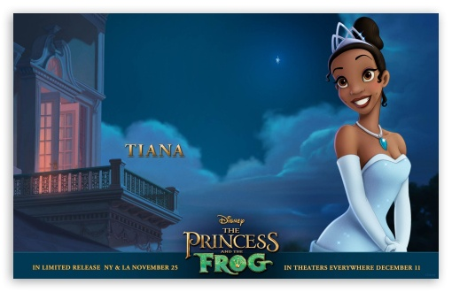 Princess And The Frog Tiana HD wallpaper for Wide 16:10 5:3 Widescreen WHXGA WQXGA WUXGA WXGA WGA ; Standard 3:2 Fullscreen DVGA HVGA HQVGA devices ( Apple PowerBook G4 iPhone 4 3G 3GS iPod Touch ) ; Mobile 5:3 3:2 - WGA DVGA HVGA HQVGA devices ( Apple PowerBook G4 iPhone 4 3G 3GS iPod Touch ) ;