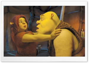 Princess Fiona and Shrek HD Wide Wallpaper for Widescreen