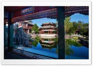 Private Gardens In The Forbidden City HD Wide Wallpaper for Widescreen