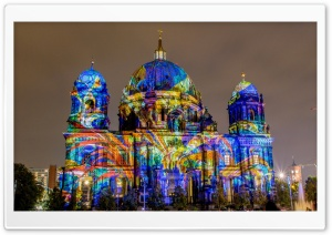 Projection Art on Buildings HD Wide Wallpaper for Widescreen