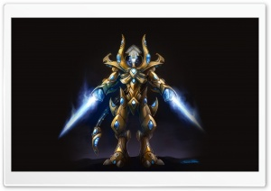 Protoss Zealot, Starcraft 2 HD Wide Wallpaper for Widescreen