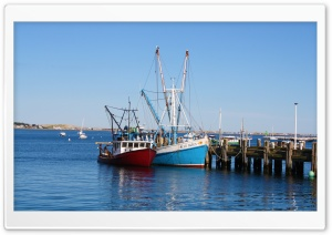 Provincetown Boats HD Wide Wallpaper for Widescreen