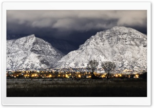 Provo Winter Night HD Wide Wallpaper for Widescreen