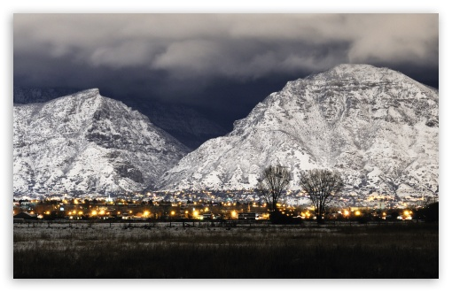 Provo Winter Night HD wallpaper for Wide 16:10 5:3 Widescreen WHXGA WQXGA WUXGA WXGA WGA ; HD 16:9 High Definition WQHD QWXGA 1080p 900p 720p QHD nHD ; Mobile 5:3 16:9 - WGA WQHD QWXGA 1080p 900p 720p QHD nHD ;