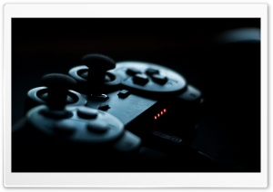 PS3 Controller in the Shadows HD Wide Wallpaper for 4K UHD Widescreen desktop & smartphone