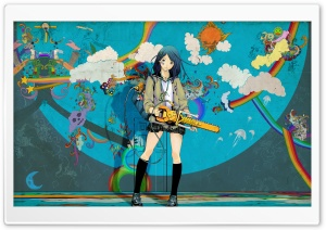 Psychedelic Girl HD Wide Wallpaper for Widescreen