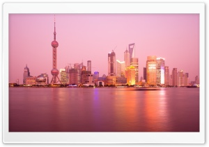 Pudong Skyline Shanghai HD Wide Wallpaper for 4K UHD Widescreen desktop & smartphone