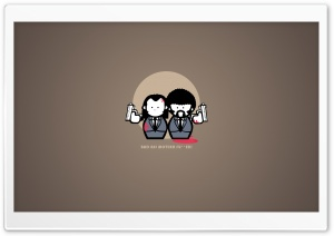 Pulp Fiction Cartoon HD Wide Wallpaper for Widescreen